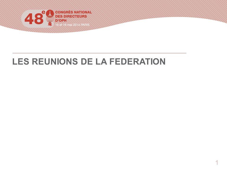 1 LES REUNIONS DE LA FEDERATION