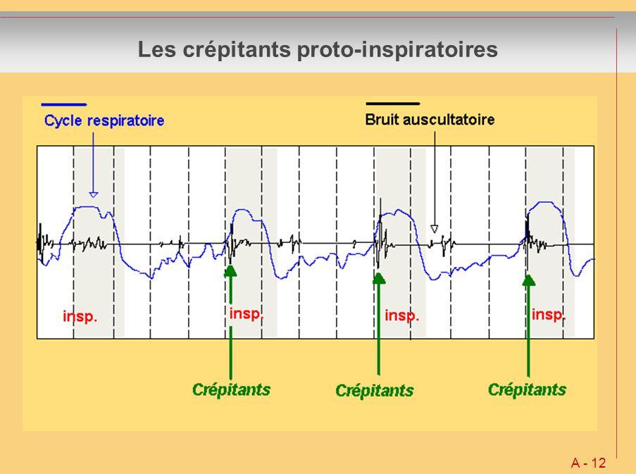 Les crépitants proto-inspiratoires A - 12