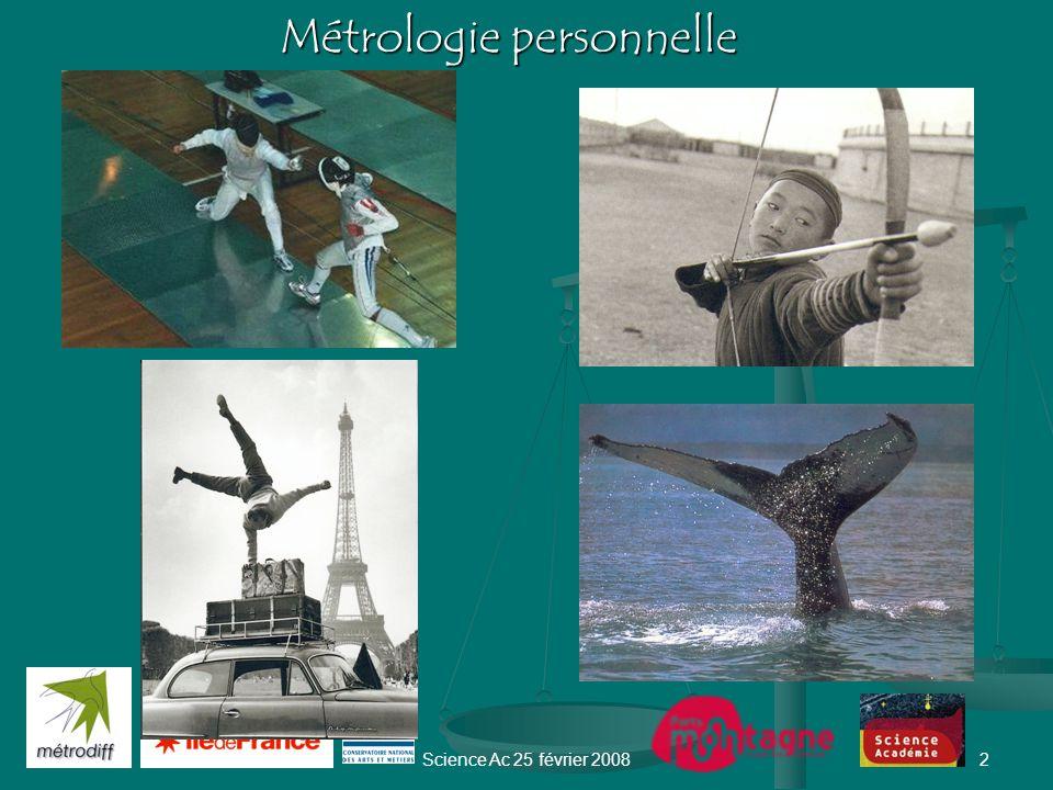 Science Ac 25 février 20081 Comportements collectifs etMétrologie Marie-Ange Cotteret et Jean Bastie