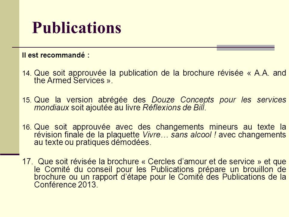 Publications Il est recommandé : 14.