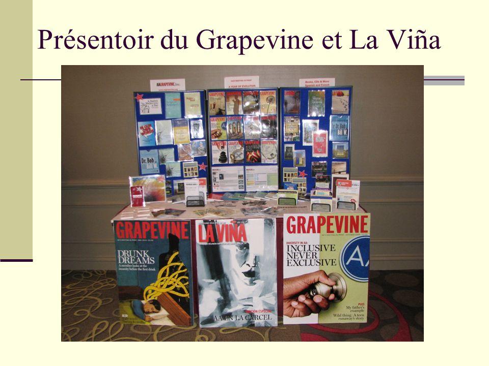 Présentoir du Grapevine et La Viña