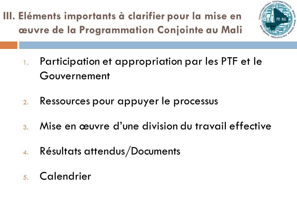 Participation et appropriation par les PTF et le Gouvernement:  Leadership du Gouvernement est nécessaire  Comment impliquer les structures gouvernementales (SHA et cellule CSLP) à l'issue de la retraite .