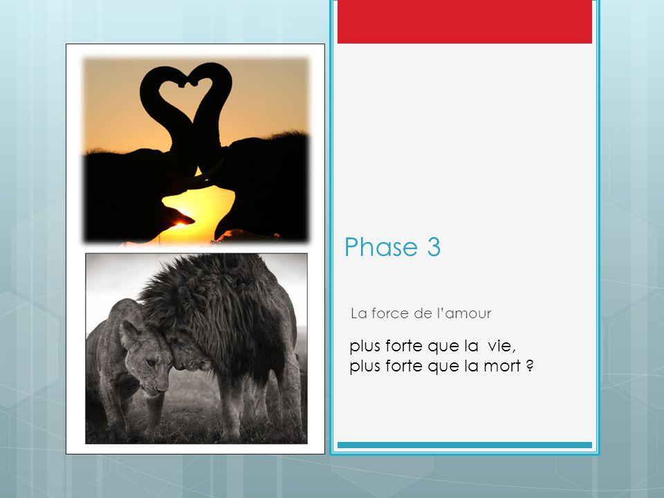 Phase 3 La force de l'amour plus forte que la vie, plus forte que la mort ?