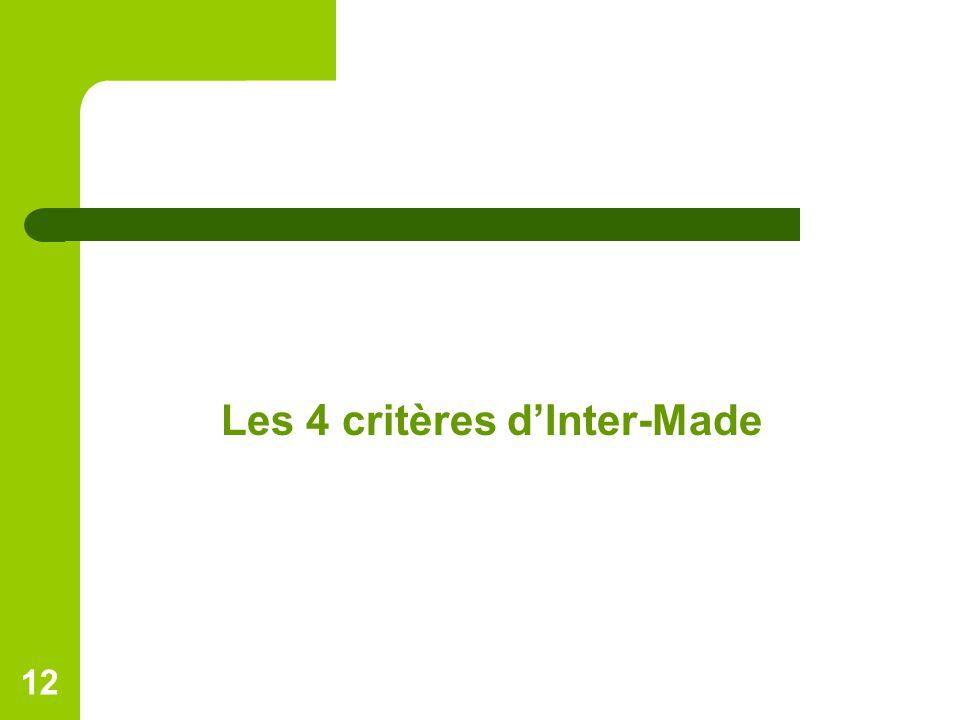 Les 4 critères d'Inter-Made 12