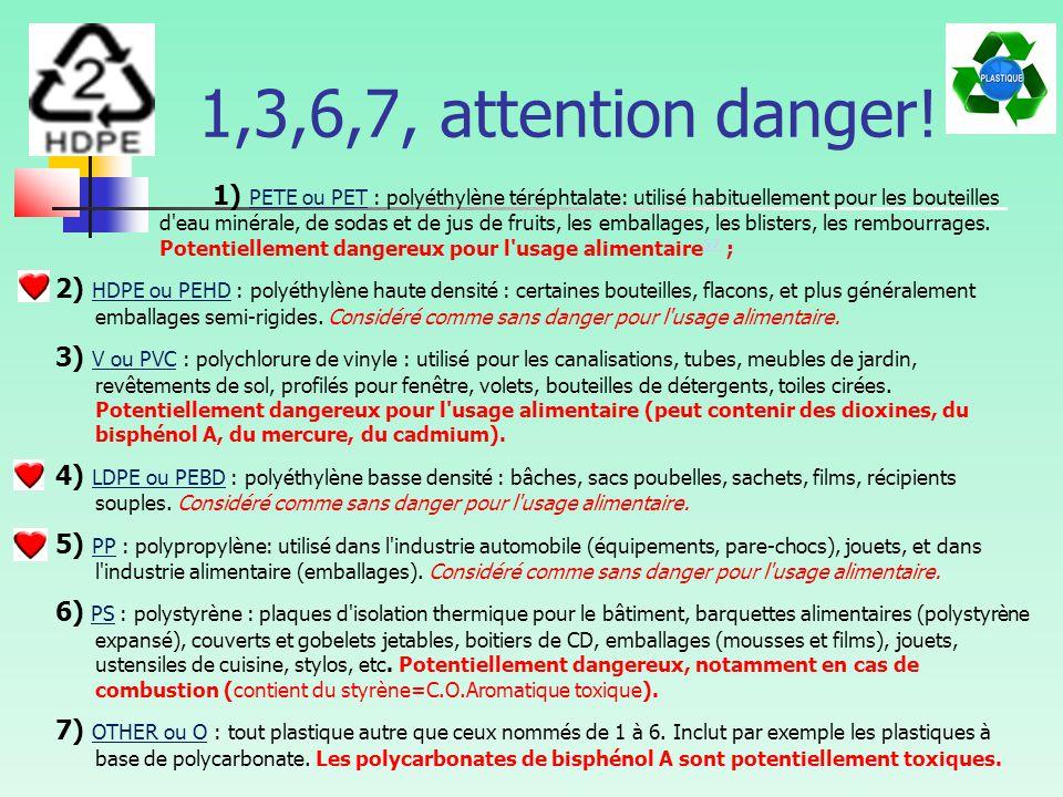 1,3,6,7, attention danger.