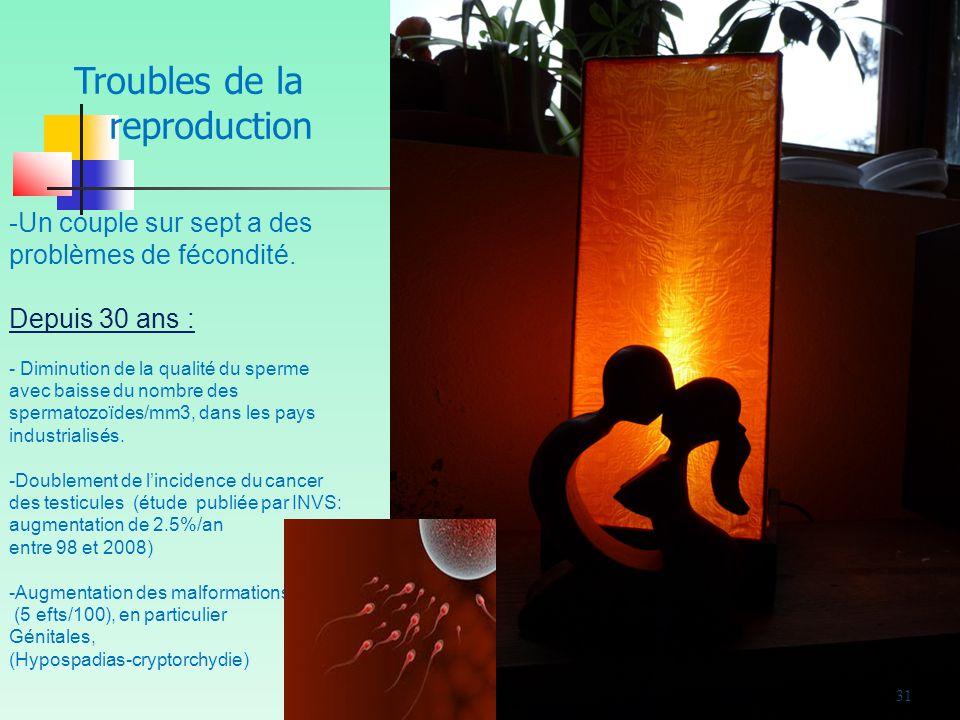 31 -Un couple sur sept a des problèmes de fécondité.