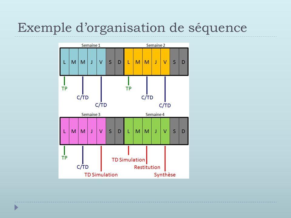 Exemple d'organisation de séquence