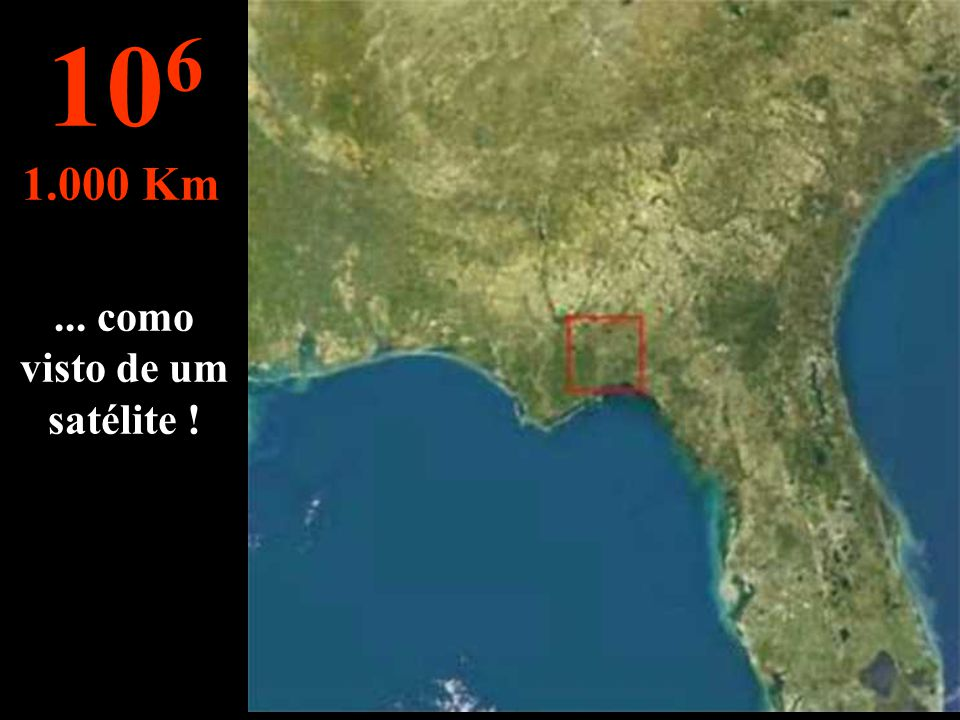 Esta distância permite englobar todo o estado Floride... 10 5 100 Km