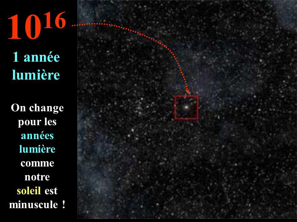 O nosso sol é apenas uma estrela entre tanto outros... 10 15 1 bilhão de Km