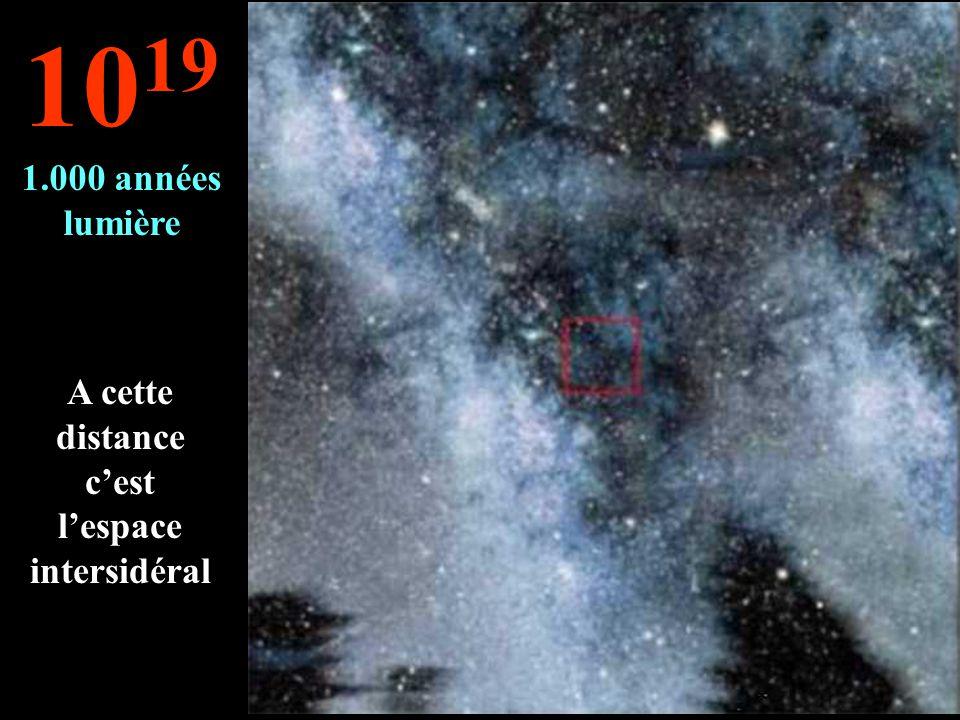 Rien d'autre que les nébuleuses de la Voie Lactée 10 18 100 années lumière