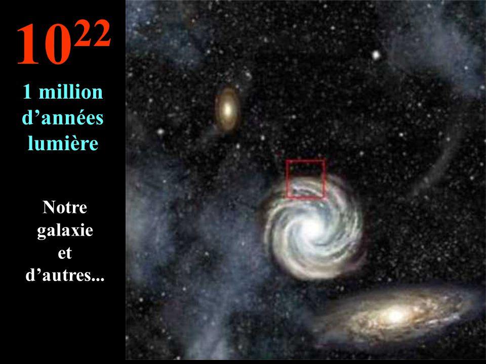 Nous arrivons aux confins de la Voie Lactée 10 21 100.000 années lumière