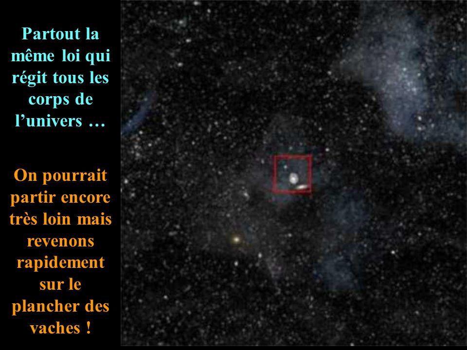 L'infini... les galaxies ne sont que de petites choses et, entre elles, des espaces vides.