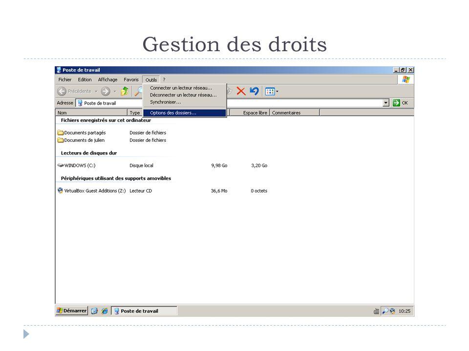 Remote Desktop Protocol  Exécuter l'application par le menu démarrée -> accessoire  L'idéal est d'exécuter mstsc (MicroSoft Terminal Service Client)