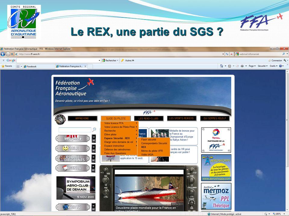Le REX, une partie du SGS