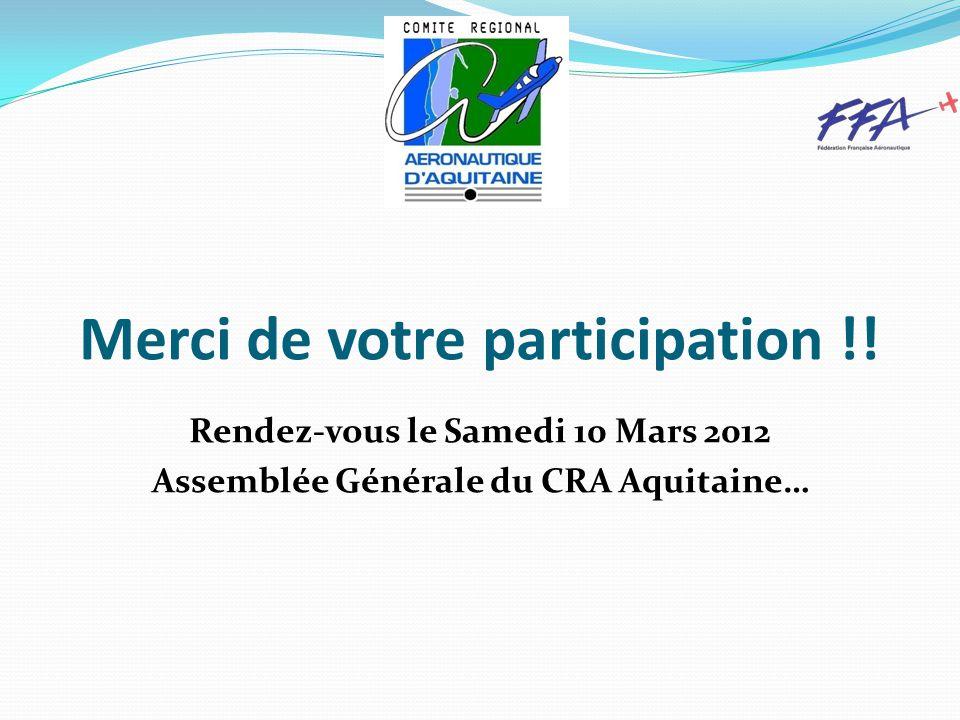 Merci de votre participation !.