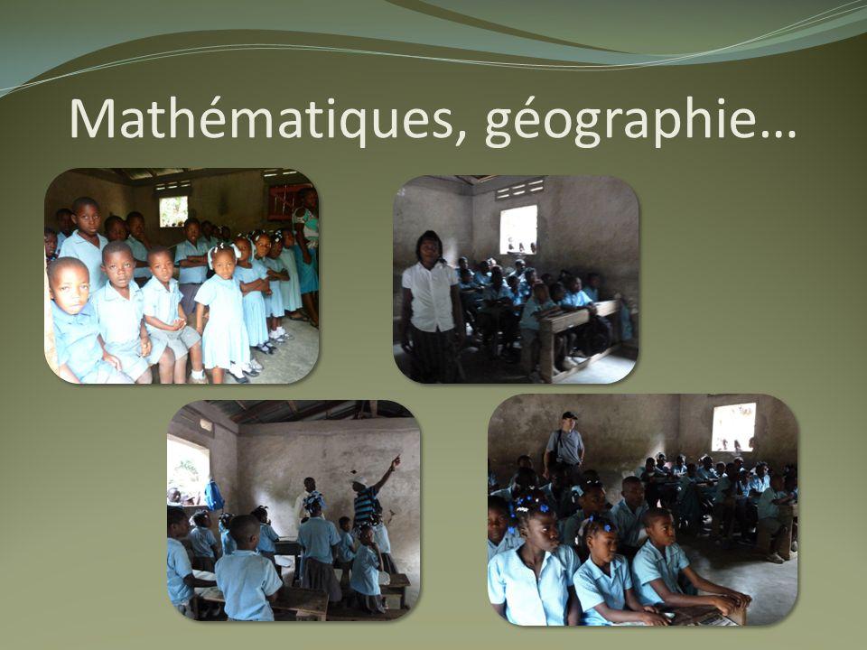 Mathématiques, géographie…