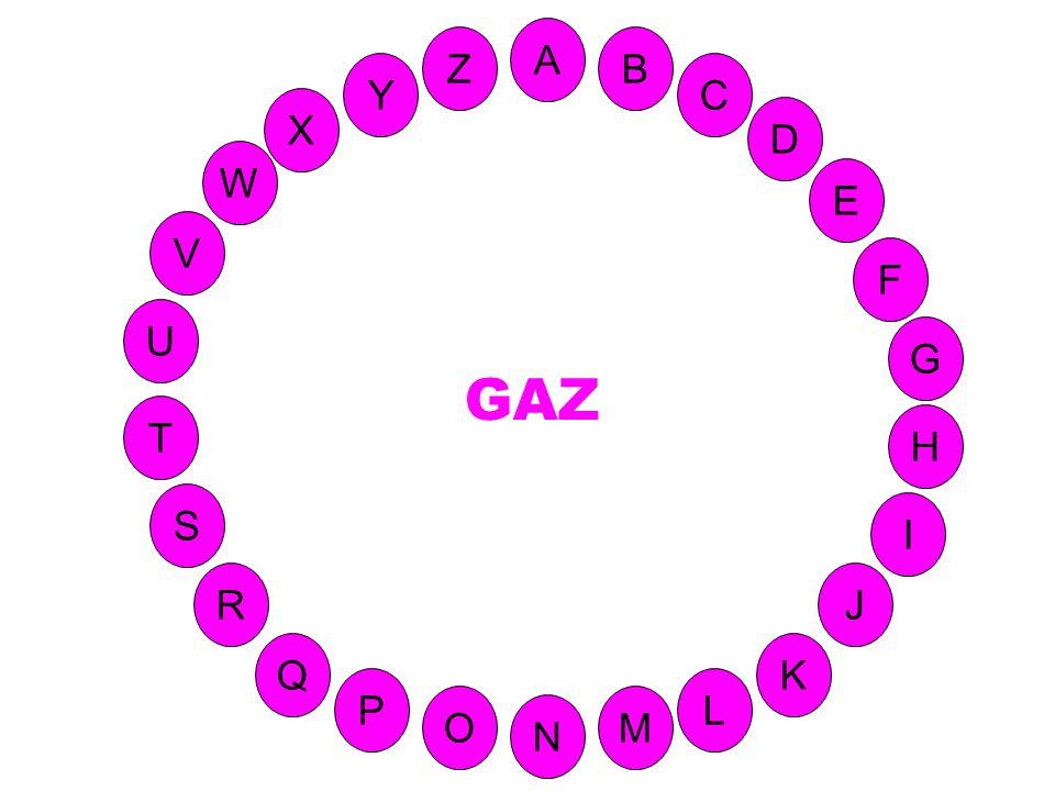 M A G S C U H W Y I F D B L K J T R Q P O N E V Z (Finit en Z) Corps fluide indéfiniment expansible, occupant tout le volume dont il dispose.