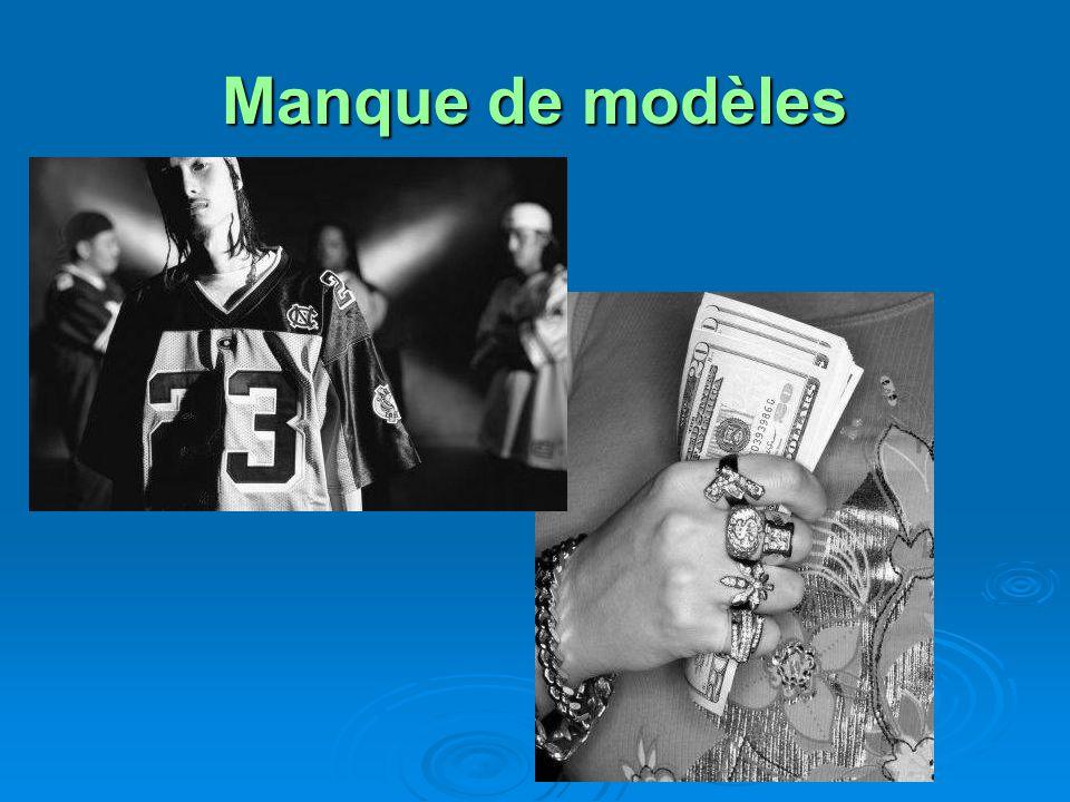 Manque de modèles