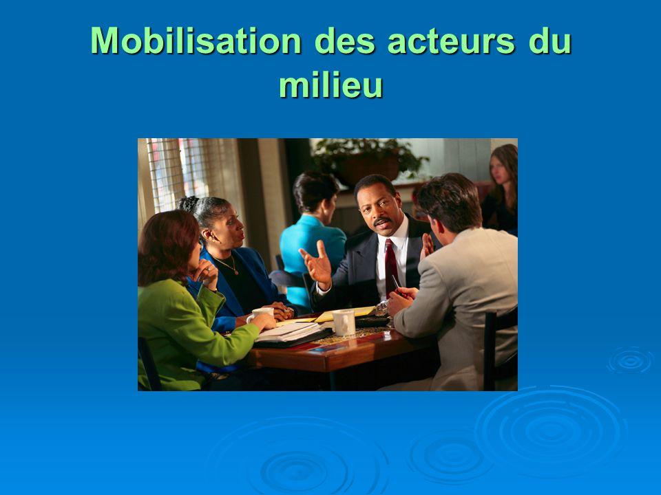 Mobilisation des acteurs du milieu