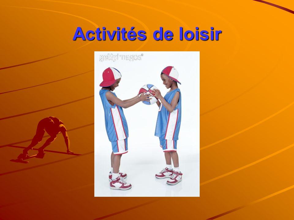 Activités de loisir