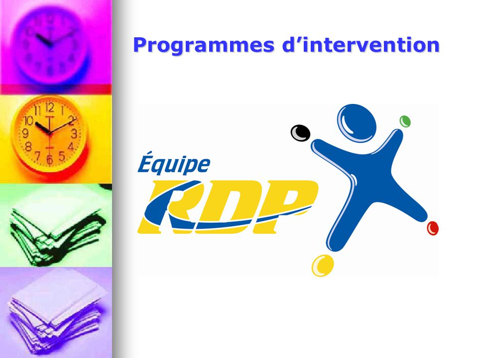 Programmes d'intervention
