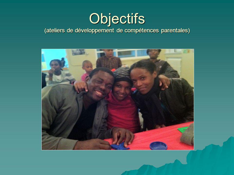 Objectifs (ateliers de développement de compétences parentales)