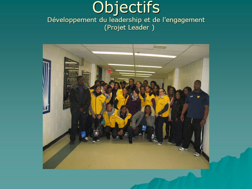 Objectifs Développement du leadership et de l engagement (Projet Leader )