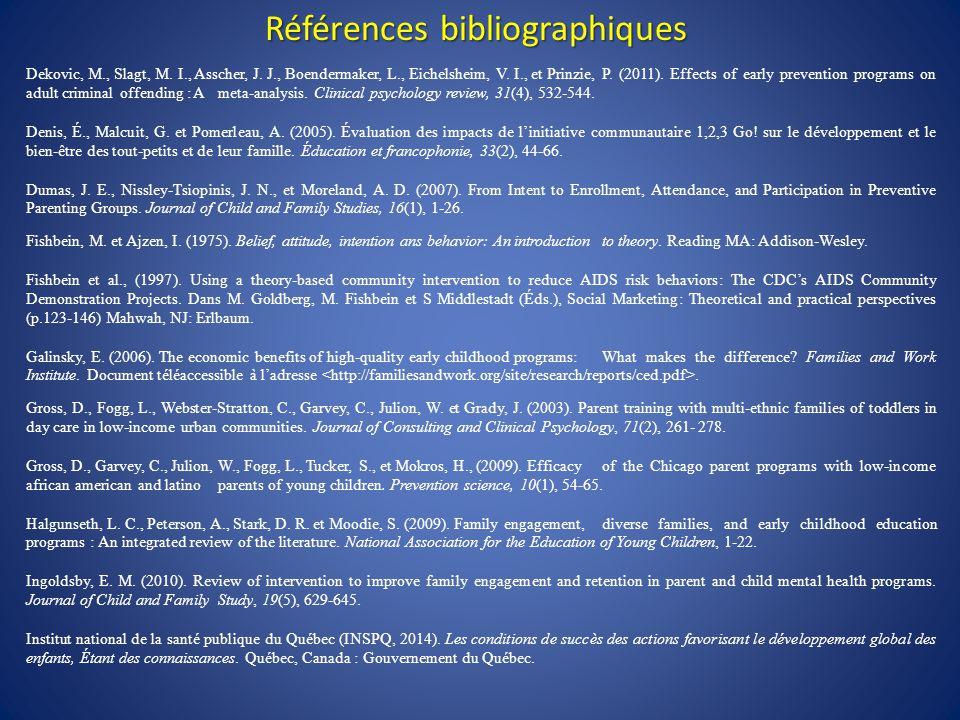 Références bibliographiques Dekovic, M., Slagt, M.