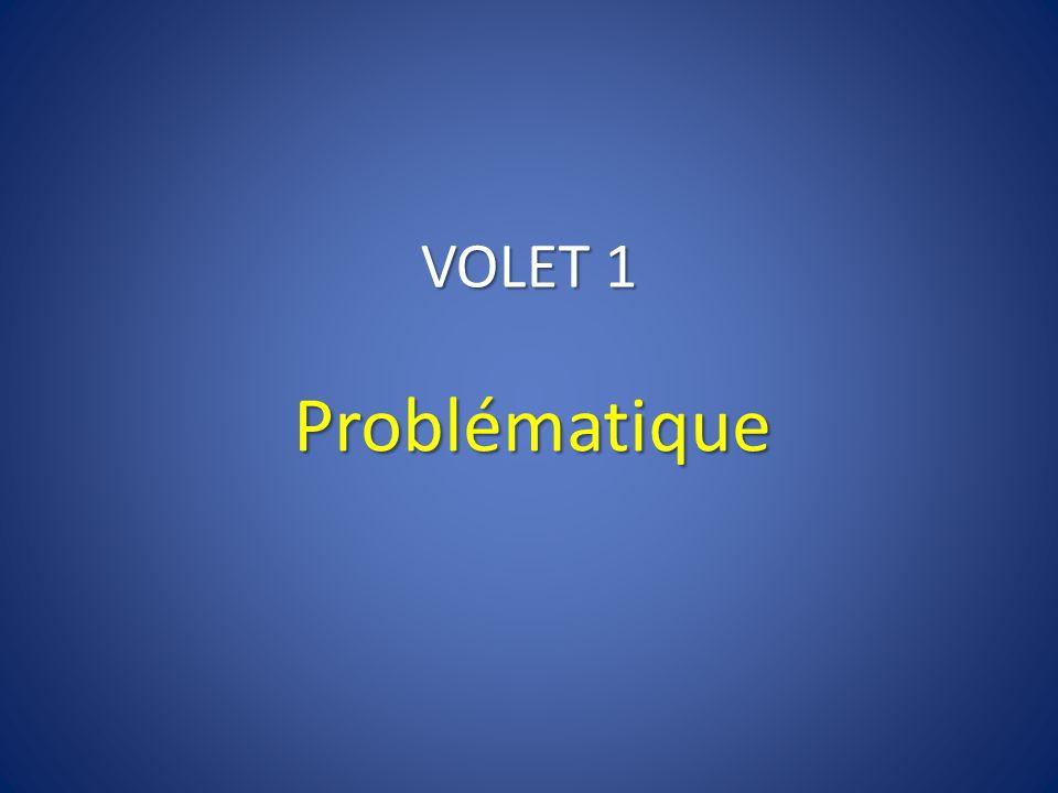 VOLET 1 Problématique