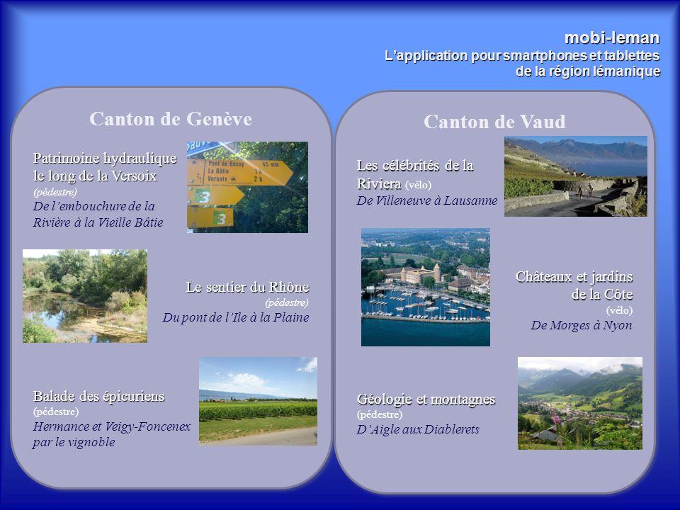 mobi-leman L'application pour smartphones et tablettes de la région lémanique Canton de Genève Patrimoine hydraulique le long de la Versoix (pédestre)