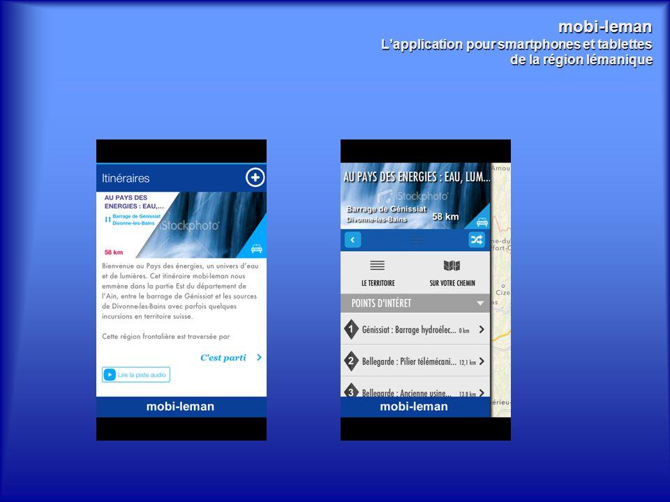 mobi-leman L'application pour smartphones et tablettes de la région lémanique