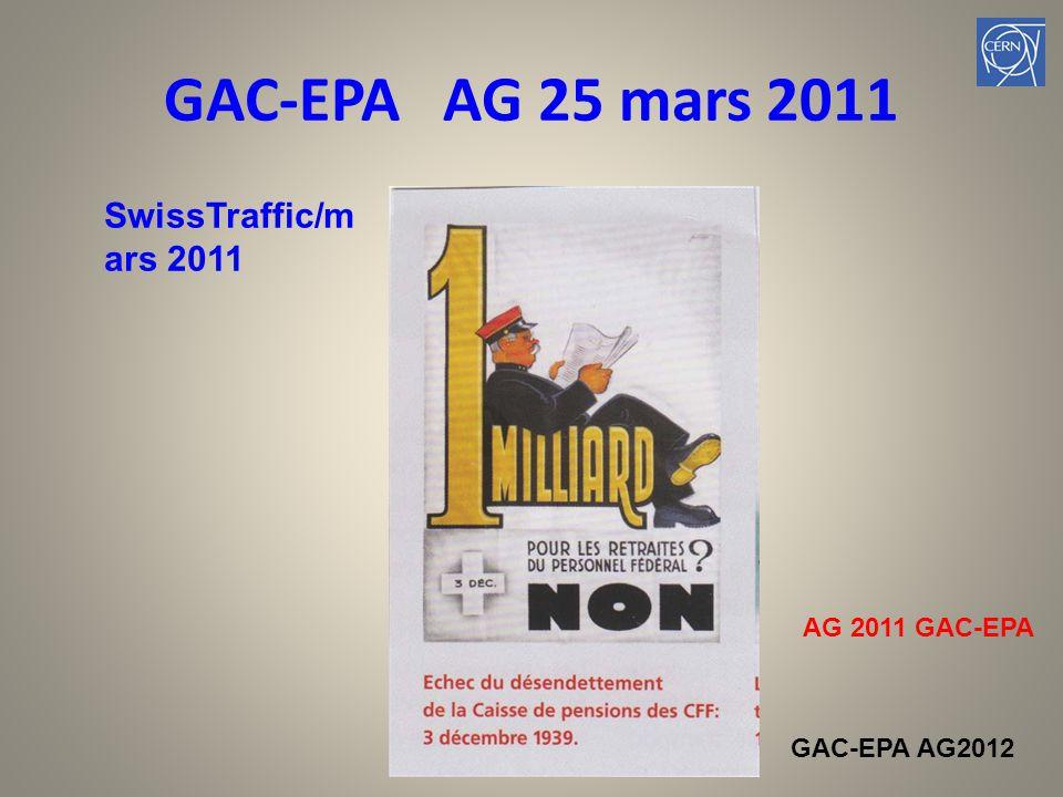 GAC-EPA AG 25 mars 2011 SwissTraffic/m ars 2011 AG 2011 GAC-EPA GAC-EPA AG2012