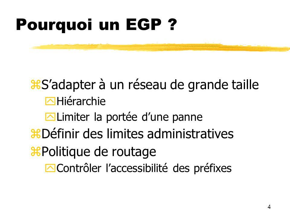 4 Pourquoi un EGP .