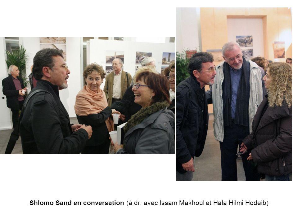 Shlomo Sand en conversation (à dr. avec Issam Makhoul et Hala Hilmi Hodeib)