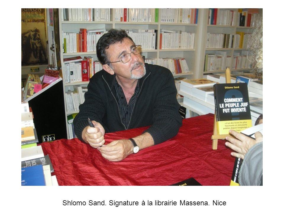 Shlomo Sand. Signature à la librairie Massena. Nice