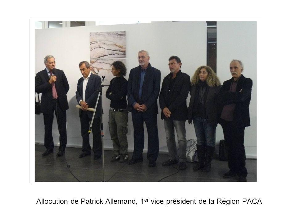 Allocution de Patrick Allemand, 1 er vice président de la Région PACA