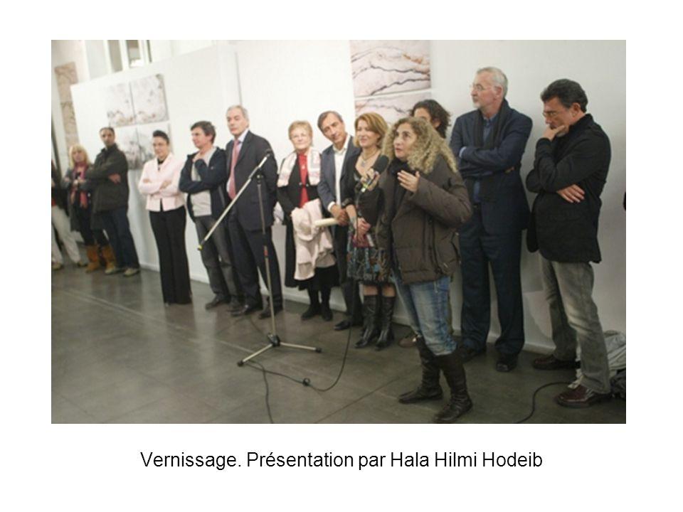 Vernissage. Présentation par Hala Hilmi Hodeib