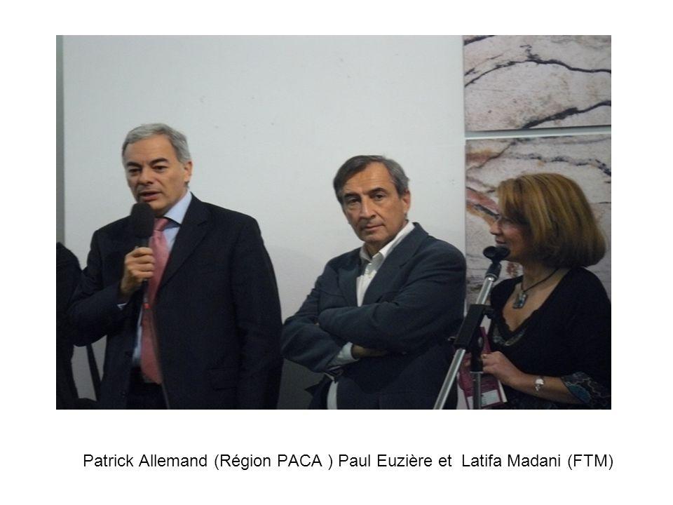 Patrick Allemand (Région PACA ) Paul Euzière et Latifa Madani (FTM)
