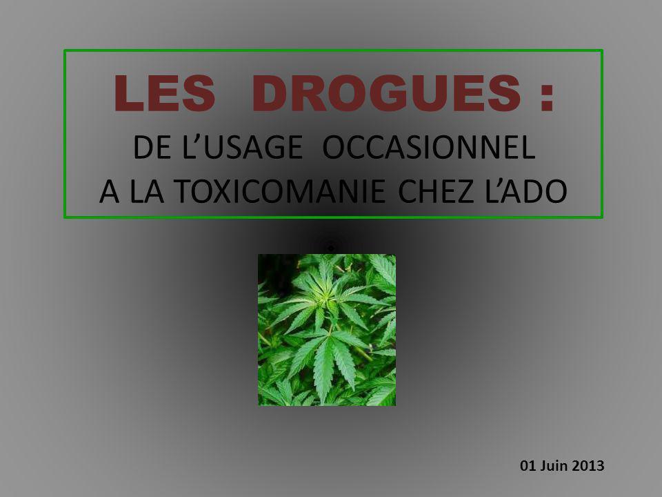 LES DROGUES : DE L'USAGE OCCASIONNEL A LA TOXICOMANIE CHEZ L'ADO 01 Juin 2013