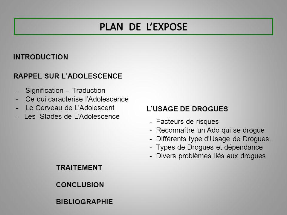 ll ) L'USAGE DE DROGUE