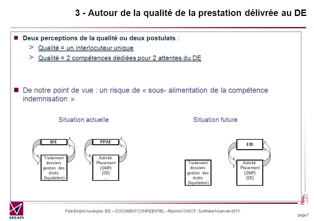 Pole Emploi Auvergne - EID – DOCUMENT CONFIDENTIEL –Réunion CHSCT - Synthèse14 janvier 2011 page 18 5 Autour de l'outil informatique Des inquiétudes limitées L'outil AUDE 2010 n'est pas considéré comme un obstacle pour les conseillers.