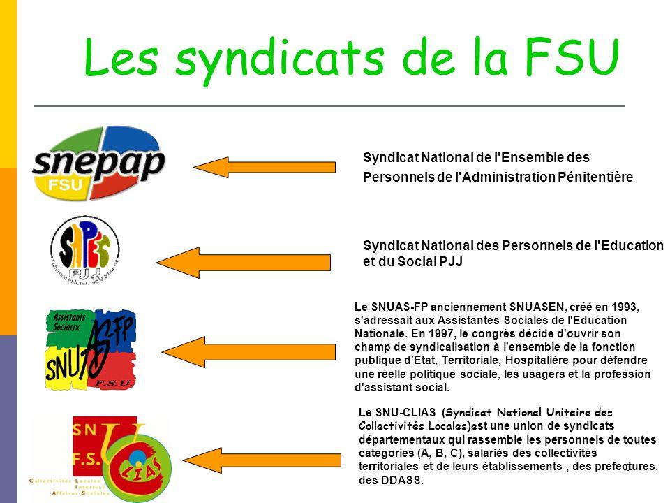 8 Syndicat National de l'Ensemble des Personnels de l'Administration Pénitentière Syndicat National des Personnels de l'Education et du Social PJJ Le