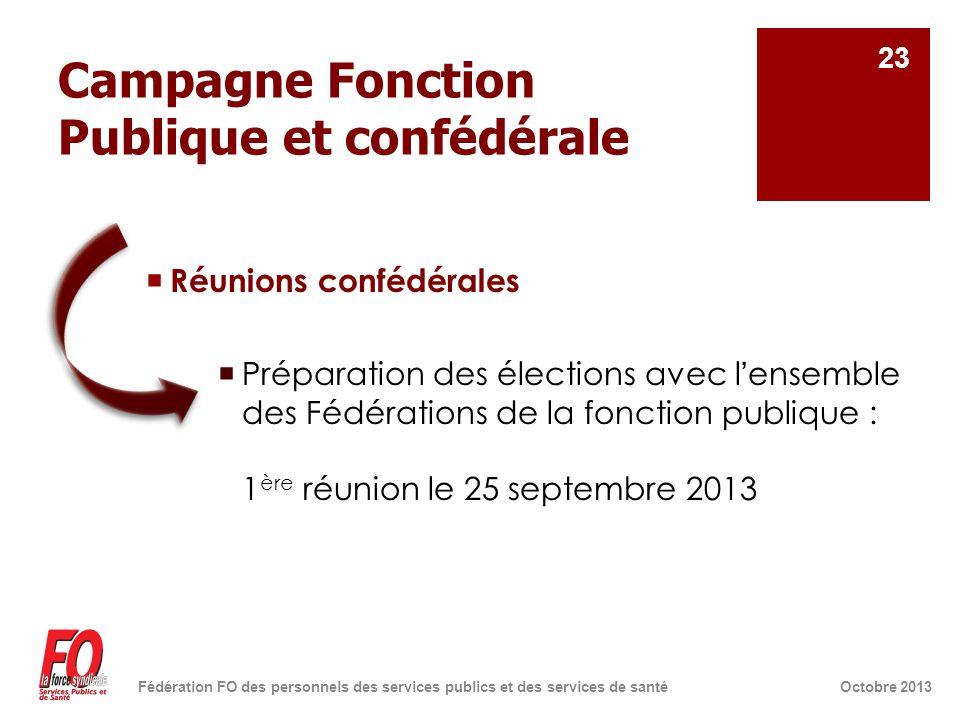 Campagne Fonction Publique et confédérale  Réunions confédérales  Préparation des élections avec l'ensemble des Fédérations de la fonction publique
