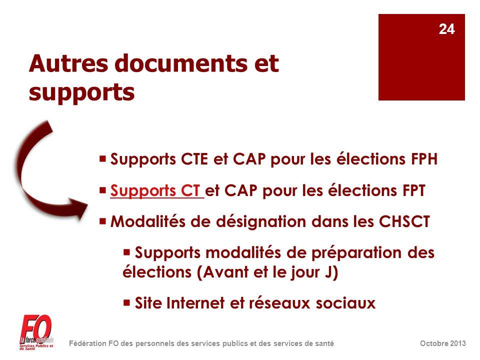 Autres documents et supports  Supports CTE et CAP pour les élections FPH  Supports CT et CAP pour les élections FPT Supports CT  Modalités de désig