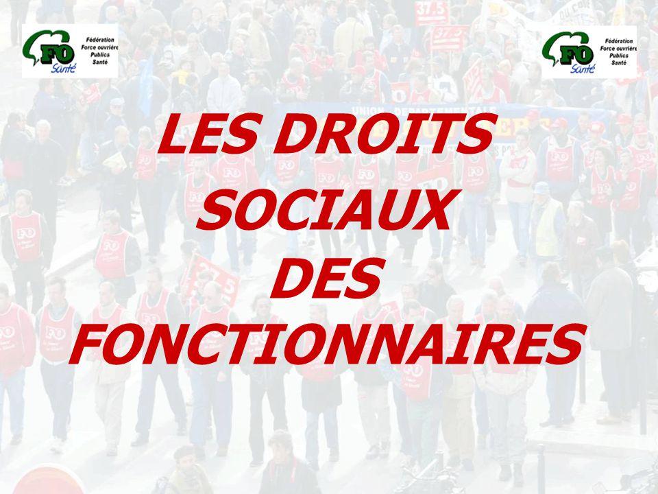LES DROITS SOCIAUX DES FONCTIONNAIRES