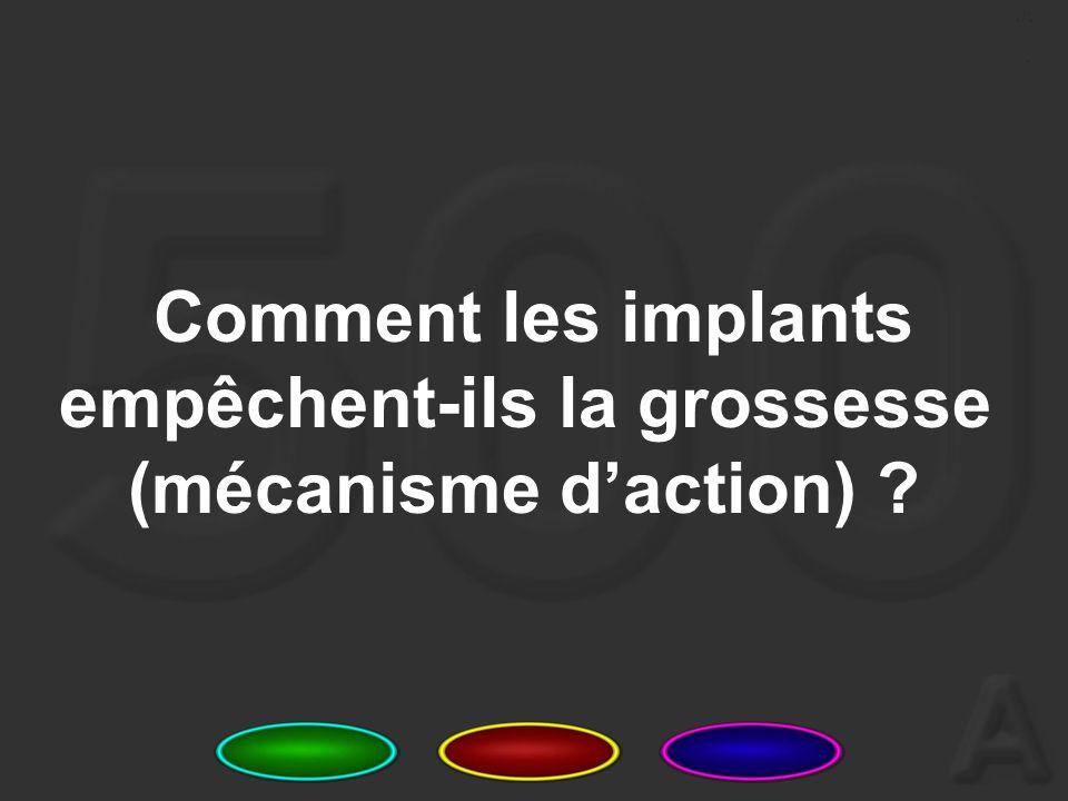 6 Nommez trois limites ou inconvénients des implants.