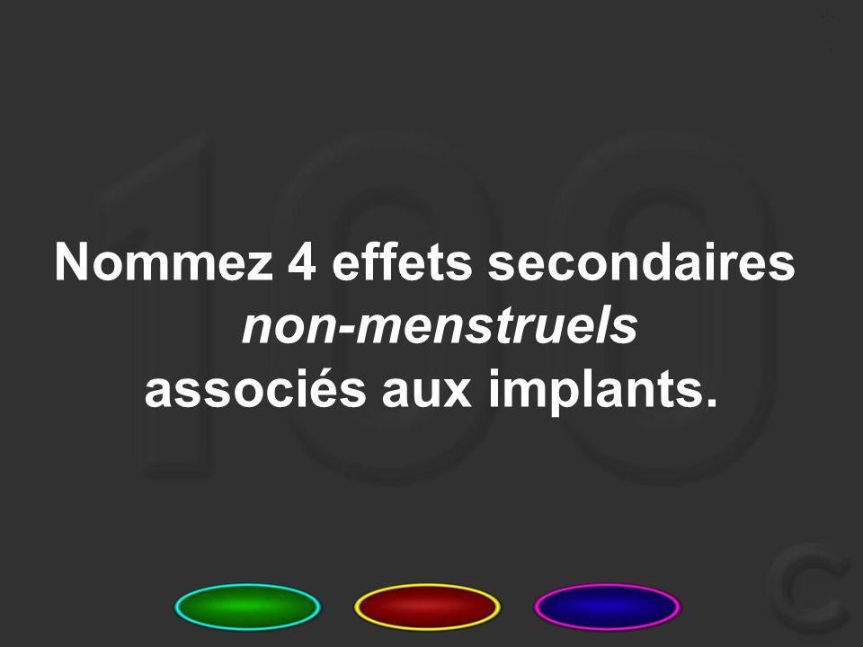7 Comment les implants empêchent-ils la grossesse (mécanisme d'action) ?
