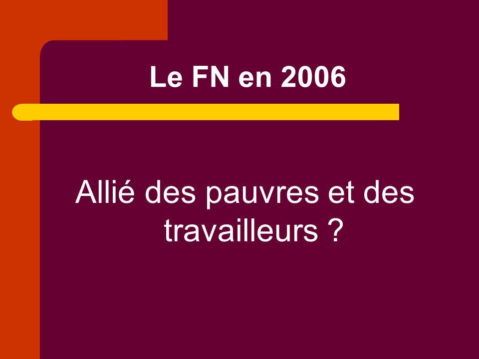 Le programme du Front National dans la Belgique de 2006 1.