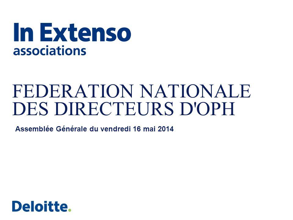 FEDERATION NATIONALE DES DIRECTEURS D'OPH Assemblée Générale du vendredi 16 mai 2014