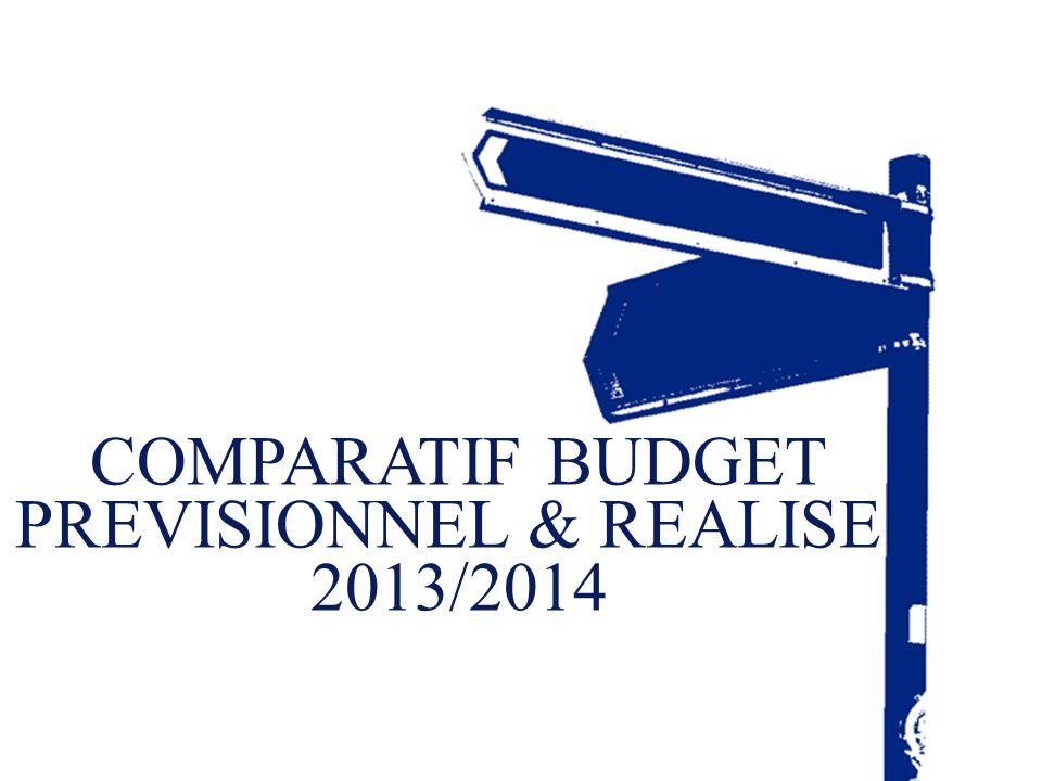 13 Fédération Nationale des Directeurs d'OPH – Assemblée générale du 16 mai 2014 COMPARATIF BUDGET PREVISIONNEL & REALISE 2013/2014